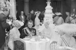 Prince Rainier and Grace Kelly Sitting With Guests